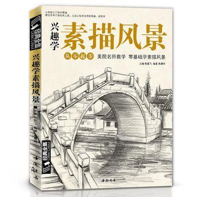 兴趣学素描风景画速写书籍临摹基础入门教程材建筑经典全集杨建飞