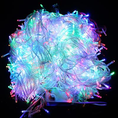 圣诞彩灯led灯串浪漫小彩灯装饰电池款挂墙上闪光灯变色挂树彩灯