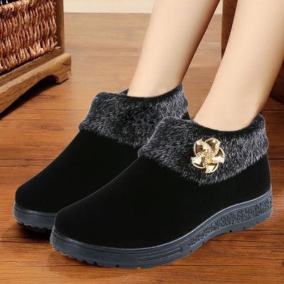 【加绒妈妈鞋】中老年棉鞋加绒加厚平底防滑一脚蹬保暖棉鞋棉靴