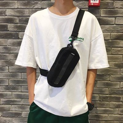 包包男生斜挎包帆布潮流韩版2019新款男胸包单肩休闲百搭学生小包