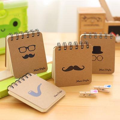 日韩文具可爱创意胡子线圈本随身便签本便携式记事本小本子奖品