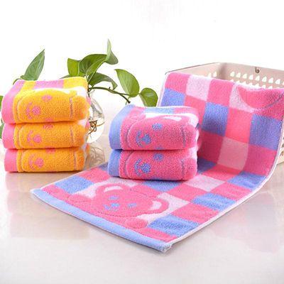 纯棉毛巾家用舒适柔软吸水绣花美容方巾儿童手帕洗脸面巾