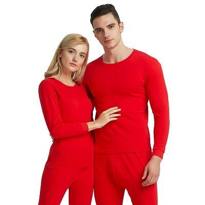 南极人 男女士大红色本命年秋衣裤纯棉内裤袜子结婚保暖内衣套装