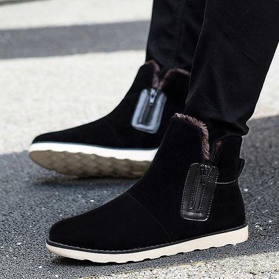 冬季雪地靴防水男士加厚东北棉靴子男鞋加绒保暖棉鞋马丁男靴潮流