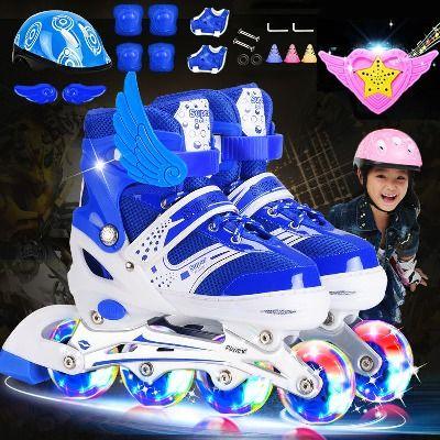 31226/溜冰鞋儿童滑冰鞋男女童全闪套装3-5-7-9-12岁旱冰鞋儿童滑轮滑鞋
