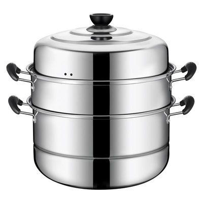 新品不锈钢蒸锅三层多3层蒸馒头的蒸笼加厚1二2层家用煤气电磁炉