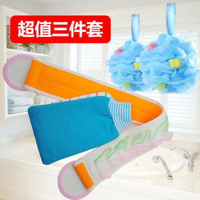 澡巾三件套加厚搓澡巾手套用品三件装拉搓背神器浴花球双层粗细砂