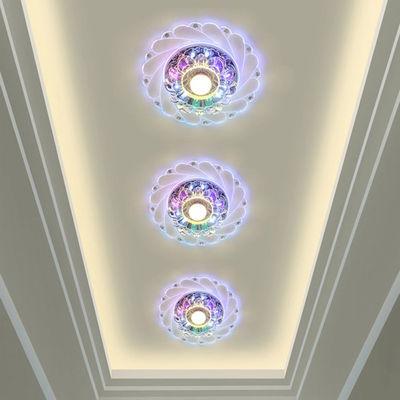 水晶过道灯走廊灯led天花射灯入户灯阳台吊顶筒灯七彩玄关灯孔灯