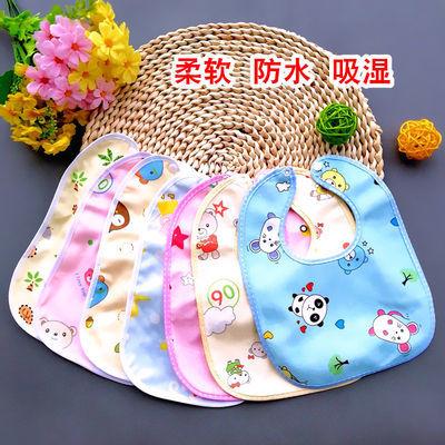 男女宝宝口水巾新生婴儿小围嘴儿童大号防水吃饭纯棉围兜夏季薄款