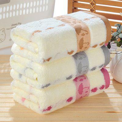 纯棉毛巾1-3条成人洗脸柔软吸水毛巾加厚手巾洗澡巾儿童方巾批发