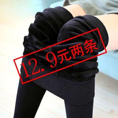 光腿神器冬加绒踩脚打底裤女士外穿连裤袜一体显瘦超厚保暖棉裤女