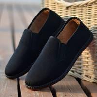 厂家直销京叶红新款冬季加绒老北京男士布鞋休闲舒适懒人一脚蹬