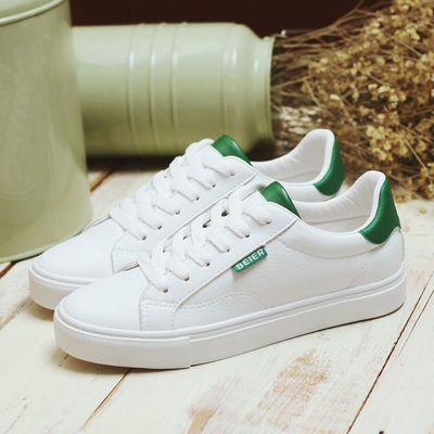 蓓尔鞋子女学生韩版百搭小白鞋女学生白色板鞋柔软休闲平底女单鞋