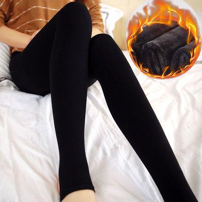 【超柔保暖】冬季加绒加厚打底裤女黑色踩脚外穿女士光腿神器肉色
