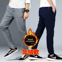 【70%棉】男士休闲裤加绒长裤 宽松棉质针织裤男装跑步裤运动裤