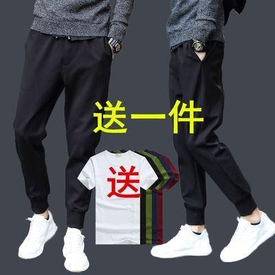 运动裤男休闲裤青少年哈伦裤男修身裤男九分休闲裤长运动裤长哈伦