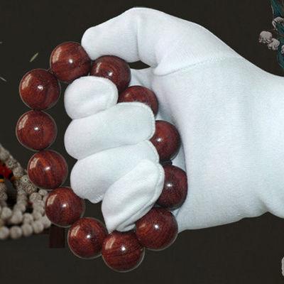 钱币纸币邮票文玩古玩古董珠宝鉴定收藏礼仪表演专用纯棉白色手套