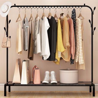 单杆式凉衣架落地简易晾衣杆家用卧室晒衣架折叠室内挂衣服架子