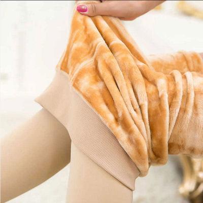 秋冬外穿加绒加厚打底裤女保暖显瘦连袜裤肉黑色踩脚中高腰一体袜