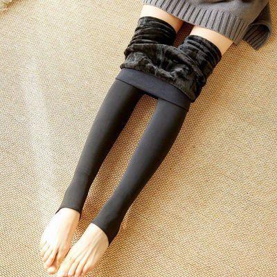 压力裤秋冬季打底裤女加绒加厚保暖外穿显瘦紧身肉色肤色光腿袜子