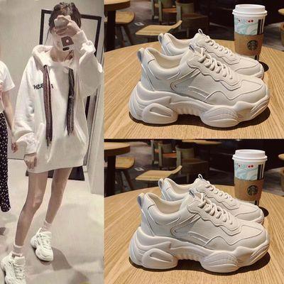 2020春季新款老爹鞋女厚底韩版ulzzang百搭增高学生运动小白鞋女