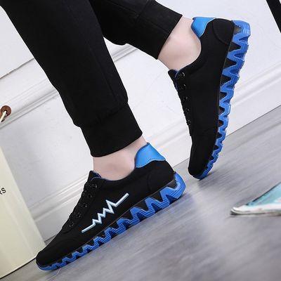 新款运动鞋男式休闲鞋男装跑步男鞋韩版青少年学生板鞋低帮布鞋子