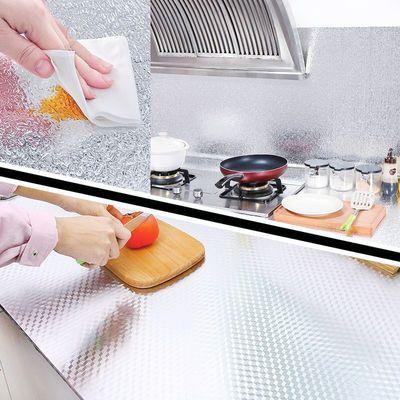厨房防油贴纸耐高温灶台墙纸自粘桌子桌面防水防潮家具翻新壁纸