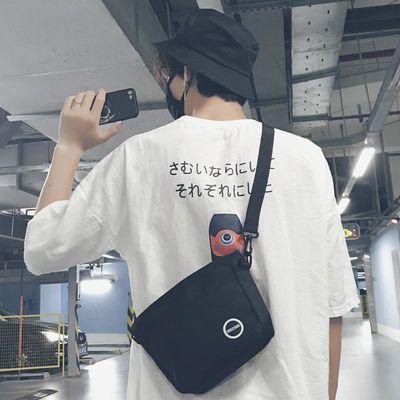 包包日系男生斜挎包帆布背包潮流韩版新款男单肩休闲百搭学生小包