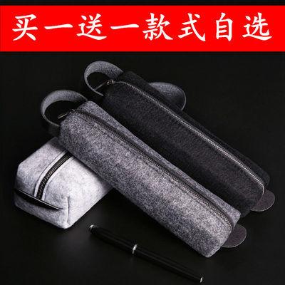 文具盒韩版简约大容量初中学生笔袋男女小学生复古帆布高中铅笔盒