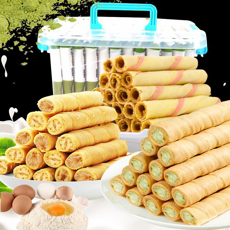 【特价150支+抹茶/奶香/椰香/话梅】鸡蛋卷饼干休闲零食18/150支
