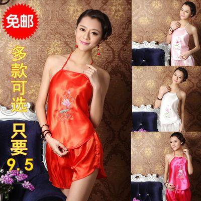 情趣肚兜式睡衣女士性感成人套内衣极度诱惑骚古代宫廷古典红肚兜
