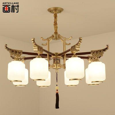 新中式大吊灯客厅灯禅意中国风复古灯具酒店灯具茶楼卧室餐厅灯饰