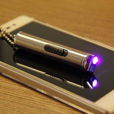 手电筒装电子验钞机小型迷你验钞棒测衣服专用手拿荧光剂检测笔