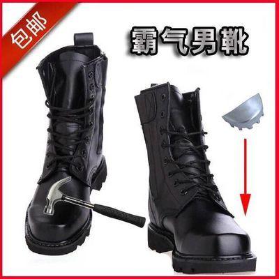 正品军靴 男特种兵作战靴 钢头钢底马丁靴 男士靴子男靴