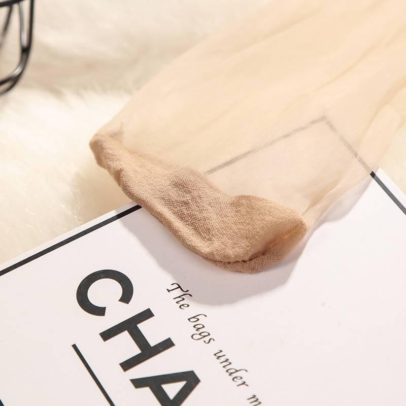 便宜的丝袜短袜女薄款防勾丝水晶丝袜脚尖透明春夏季短袜子隐形女短丝袜