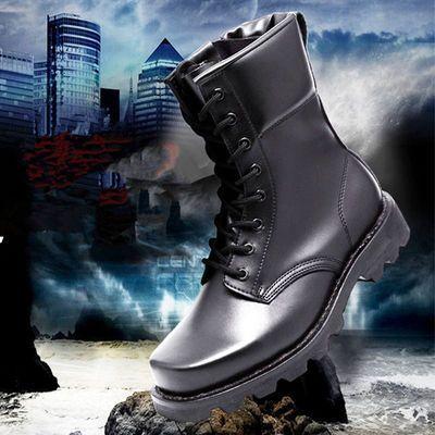 秋冬防爆靴军靴男特种兵高帮陆战靴战术靴子防水钢头钢底作战靴