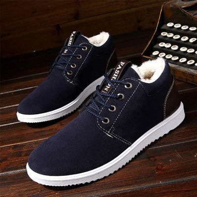 保暖休闲雪地靴男秋冬季户外加绒加厚棉鞋韩版潮流运动棉板鞋透气
