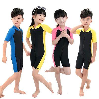 【送泳帽】学生训练儿童泳衣大中小童连体游泳衣男女童宝宝泳装