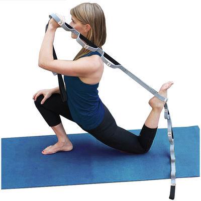 辅助瑜伽用品 2.5米加长伸展带瑜伽绳拉伸带拉力带开度纯棉拉筋带