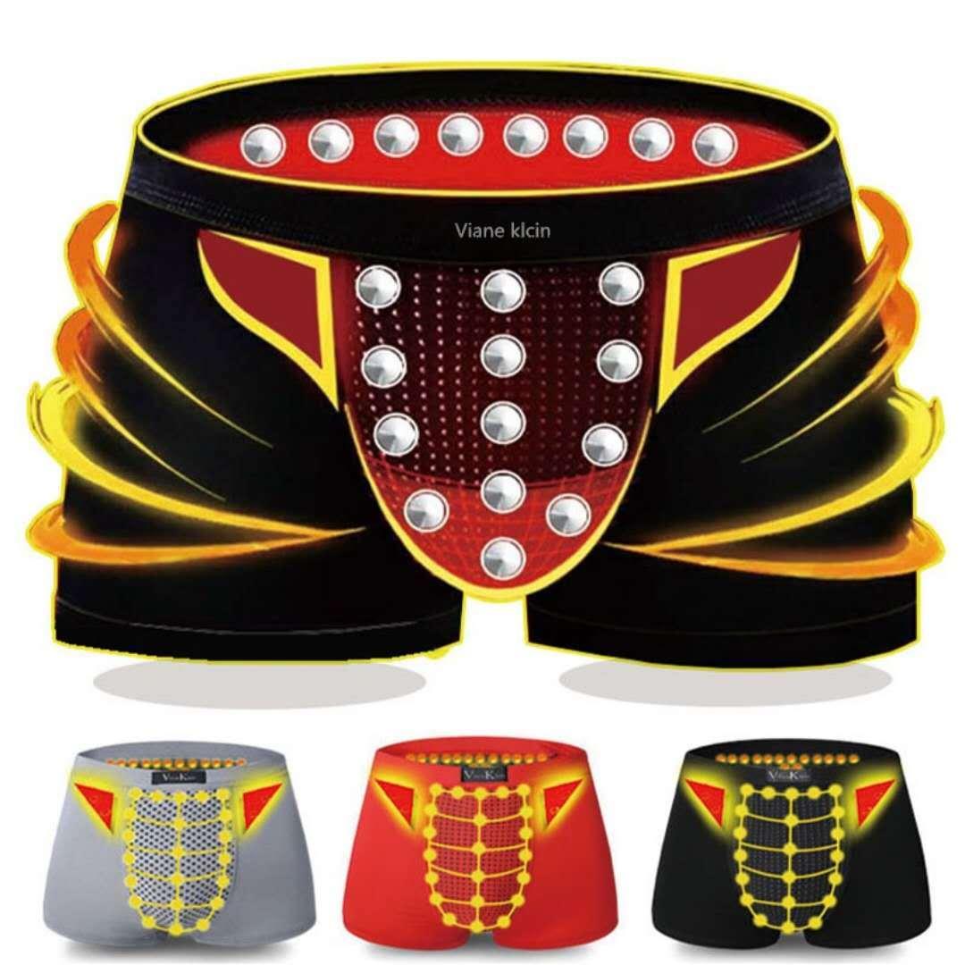 3条磁保健磁疗男士内裤英国卫裤官方正品男士平角四角内裤男大码