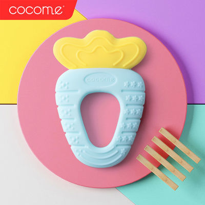 婴儿牙胶磨牙棒无毒硅胶软可水煮新生宝宝 0-6-12个月咬咬玩具球