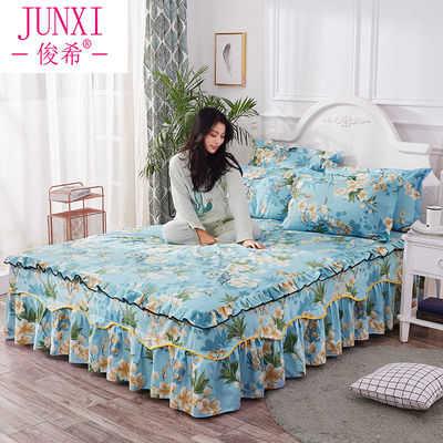 俊希家纺韩版公主床裙床罩单件席梦思保护套1.0/1.2/1.5/1.8m床