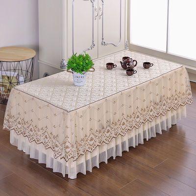 新款欧式客厅家用全包茶几罩防尘套长方形客厅茶几垫防尘罩蕾丝