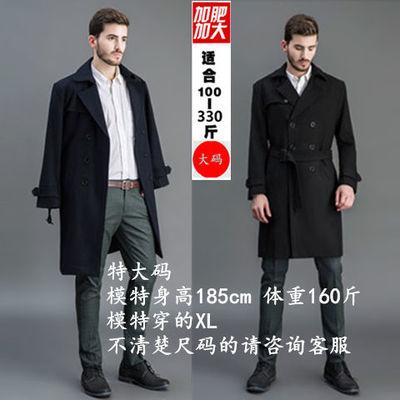 新呢子大衣男风衣中长款韩版大码新款青年秋冬季加厚毛呢外套男士