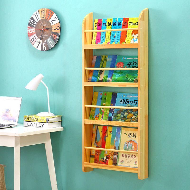 Buy Simple Children S Wall Wall Bookshelf Solid Wood Kindergarten Baby Bedroom Picture Bookcase Display Bookcase Storage Rack On Ezbuy My