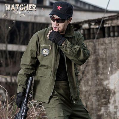 山地101空降师军绿军装迷彩服套装男女特种兵户外野战服作训服