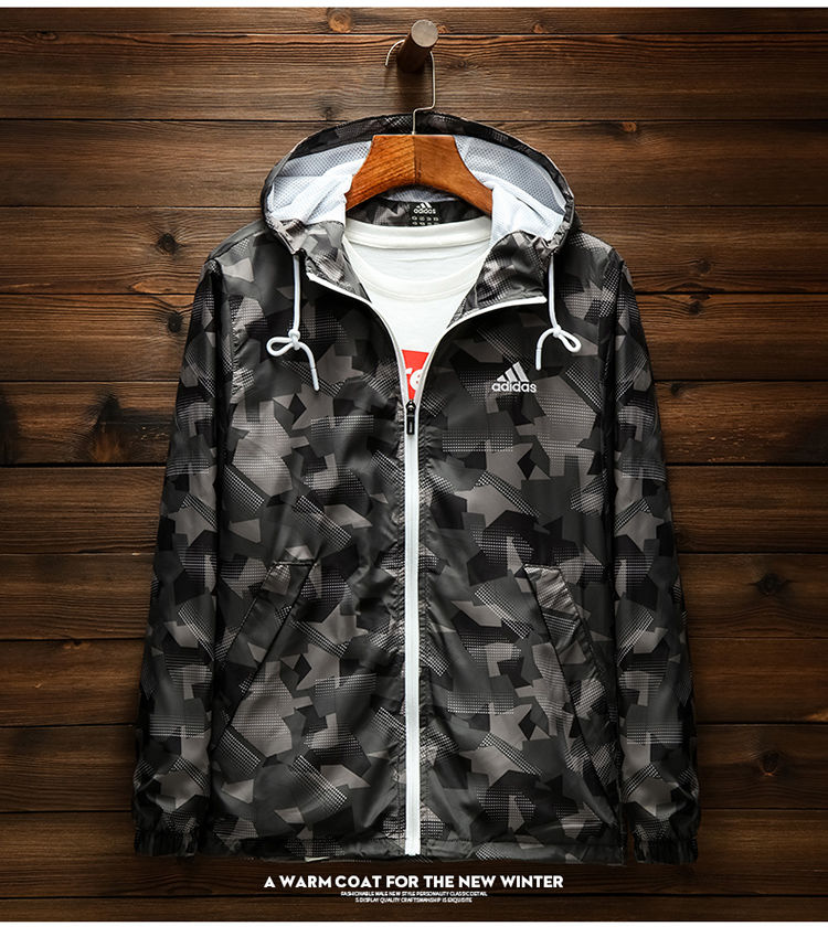 Adidas ! Ready Stock ! Men's Autumn New Warm And Comfortable Hoodie Windproof Jacket Sports Jacket