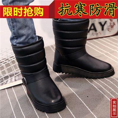冬季新款男士雪地靴高筒靴防水防滑棉靴加厚加绒户外保暖靴男靴子