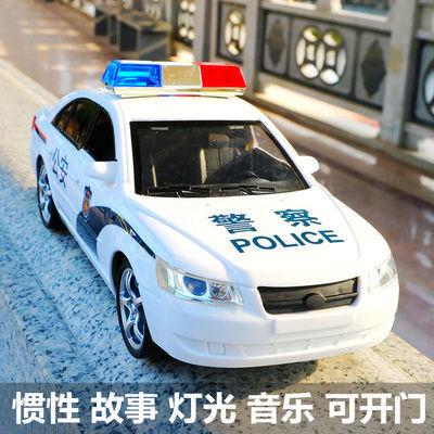 大号警车玩具救护车车门可开惯性特警工程车儿童汽车模型玩具车
