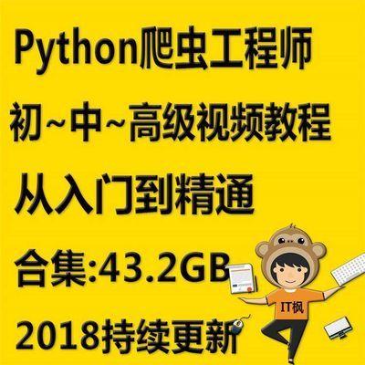 python爬虫分布式框架scrapy selenium零基础入门到精通视频教程